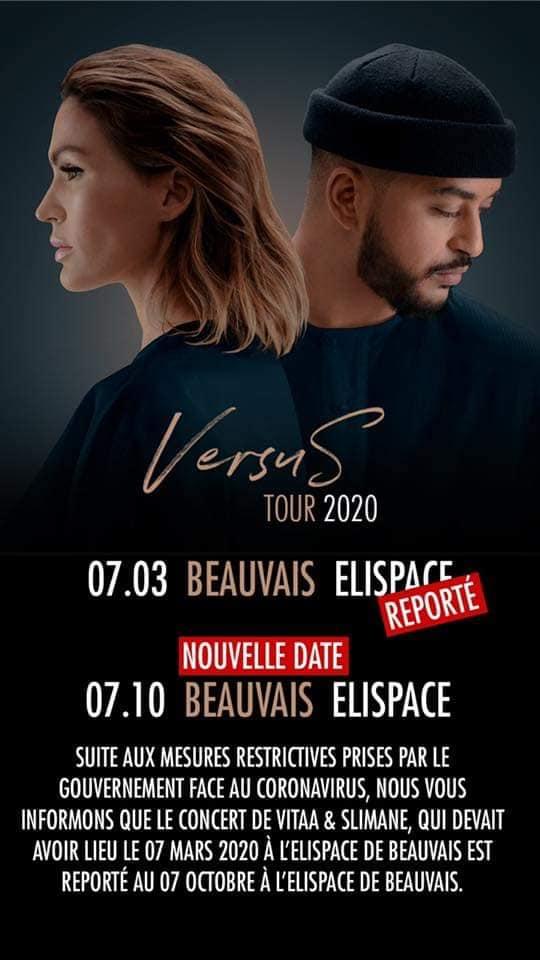Le concert de VITAA ET SLIMANE est reporté au 7 octobre 2020!